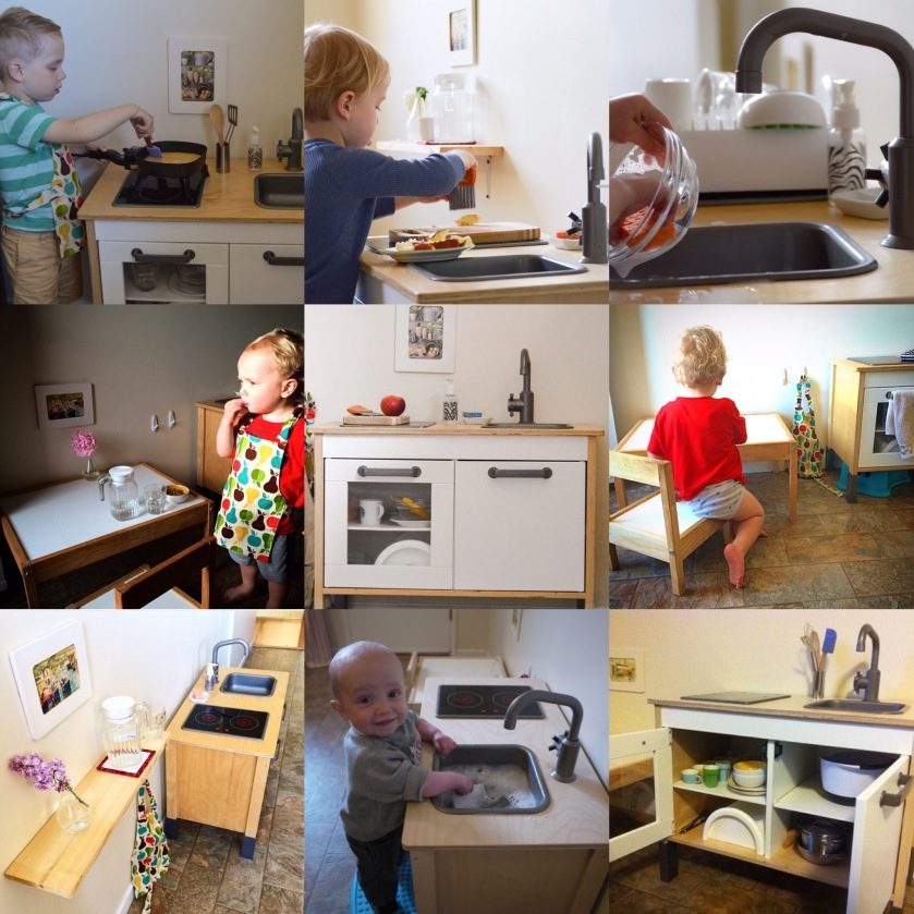 Our child sized kitchen a history our montessori life for Our life in the kitchen